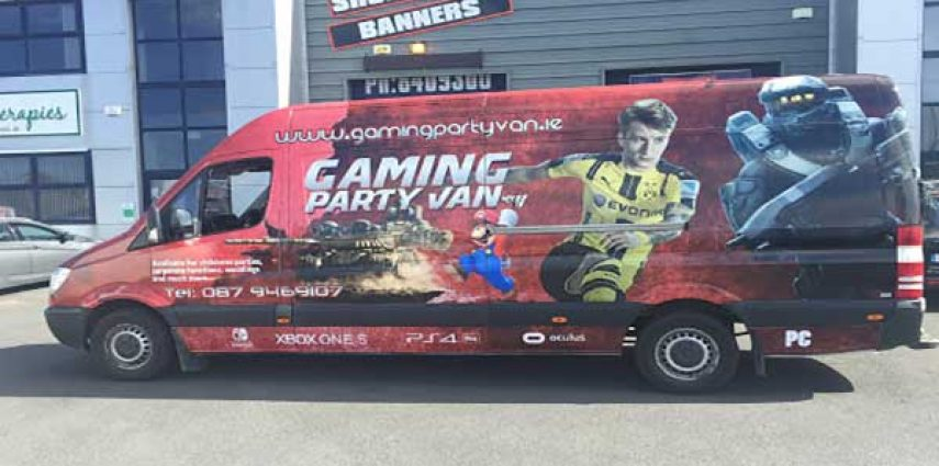 Based in Dublin? Visit gaming party van.ie for all your gaming needs