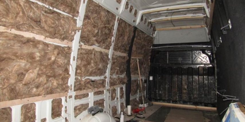 Insulating a video game van